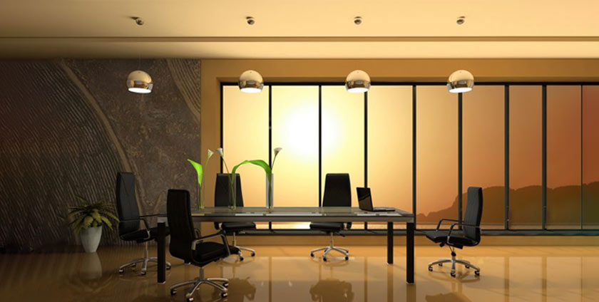 Lighting in office decoration