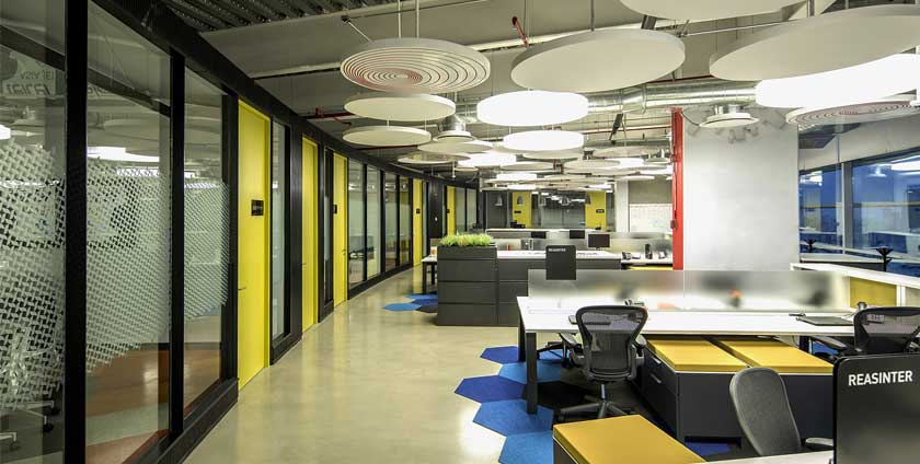 Four office design icons are up to date