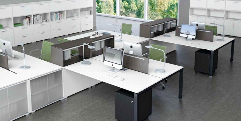 Integrated office furniture