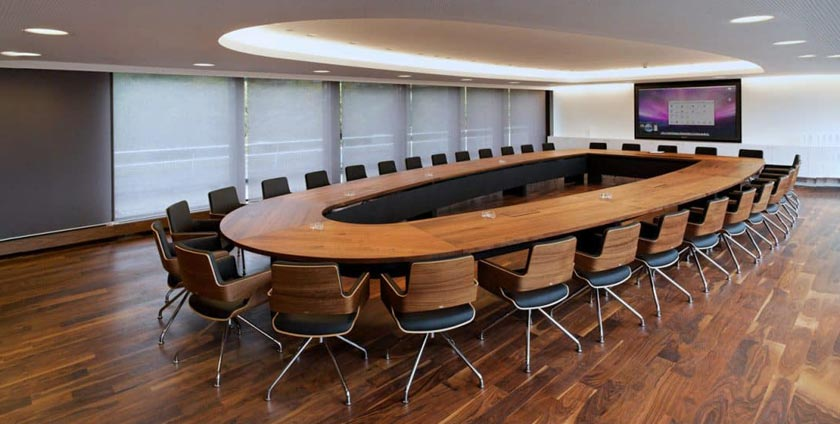 Standard dimensions of the conference table
