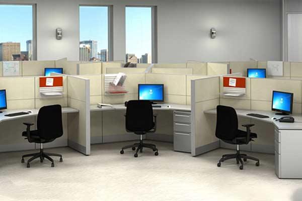 بهره وری از فضای دفتر کار کوچک