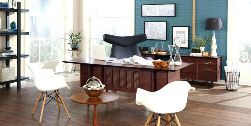 Matte and shiny colors in office furniture