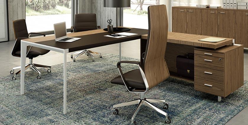 Desk and office desk
