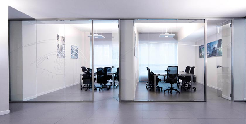 Types of glass partitions